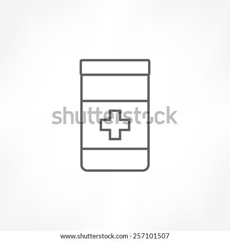 medicine bottle icon - stock vector