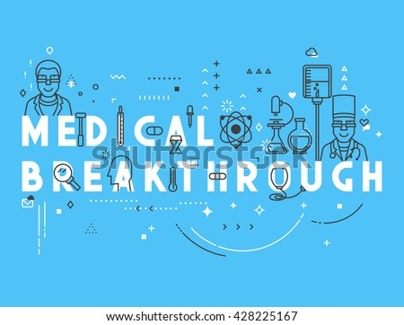 Medicine concept breakthrough. Concept Medicine.  Design concept. Creative design elements for websites, mobile apps  printed materials. Medicine banner design. Concepts modern design - stock vector