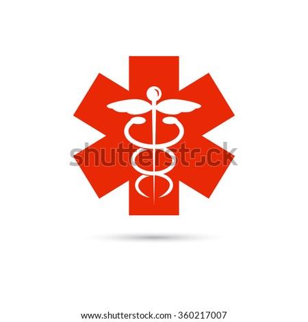 Medicine emblem icon - stock vector