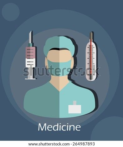 Medicine healthcare services concept flat icon. - stock vector