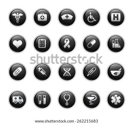 Medicine & Heath Care Icons - stock vector