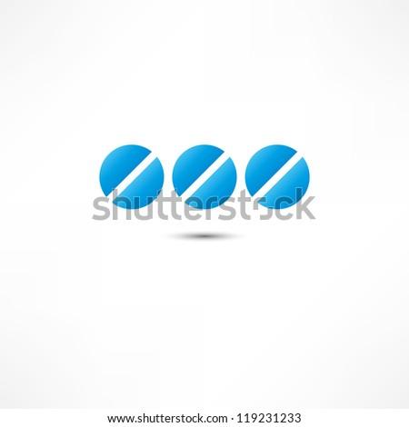 Medicine pills icon - stock vector