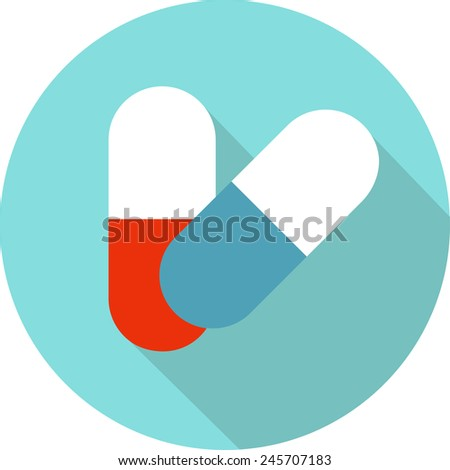 Medicine vector icon pills or tablets, capsules. - stock vector