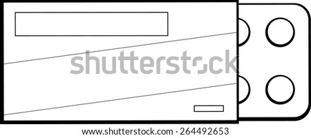 medicine with package - stock vector