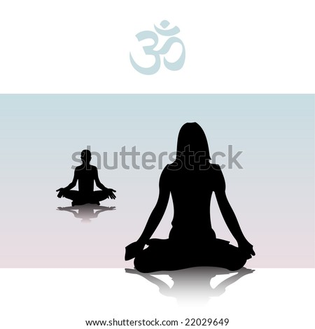 meditation - stock vector