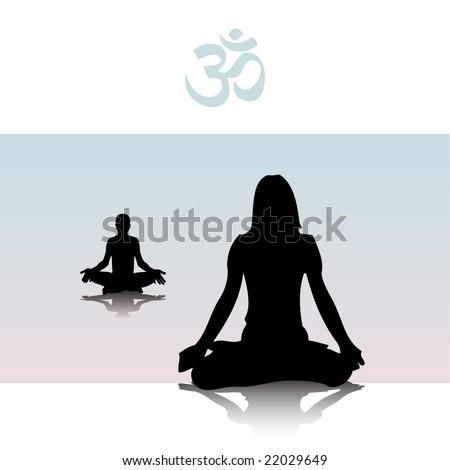 meditation - stock vector