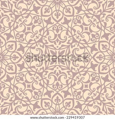 Mediterranean floral ornament, oriental seamless pattern, tile design, vector illustration - stock vector