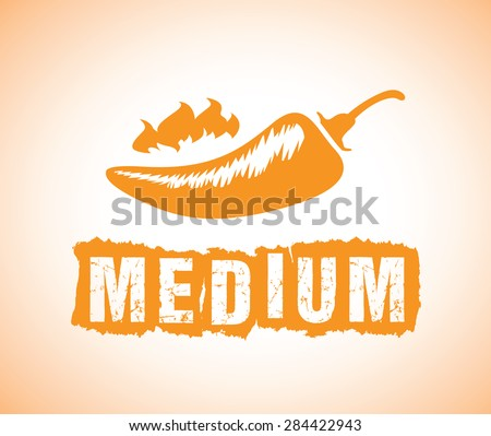 medium chilli - stock vector