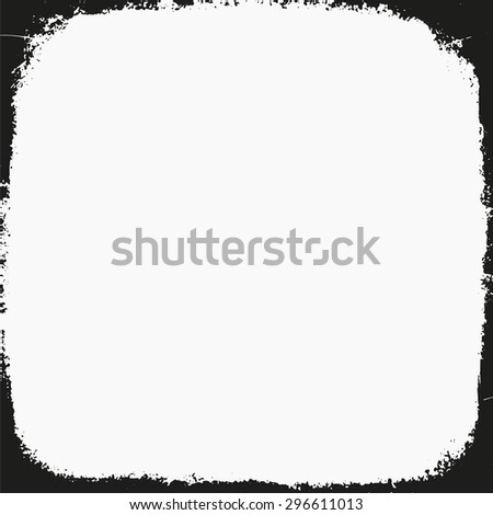 medium format filmstrip with grain textured and grunge border - stock vector
