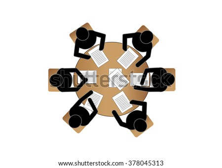 Meeting business people - stock vector