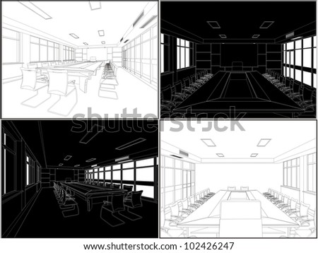 Meeting Conference Room Vector 04 - stock vector