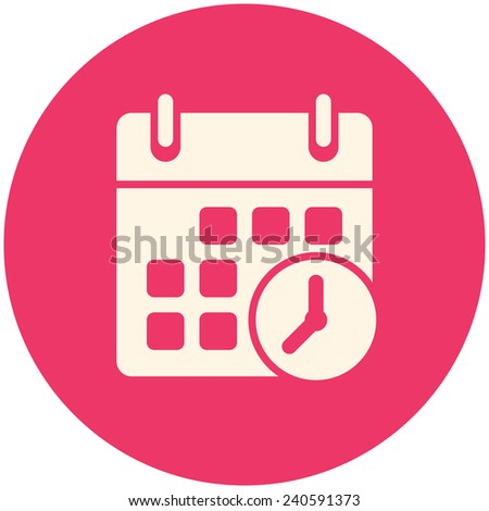 Meeting Deadlines icon, flat design - stock vector