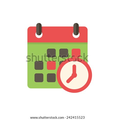 Meeting Deadlines, modern flat icon - stock vector