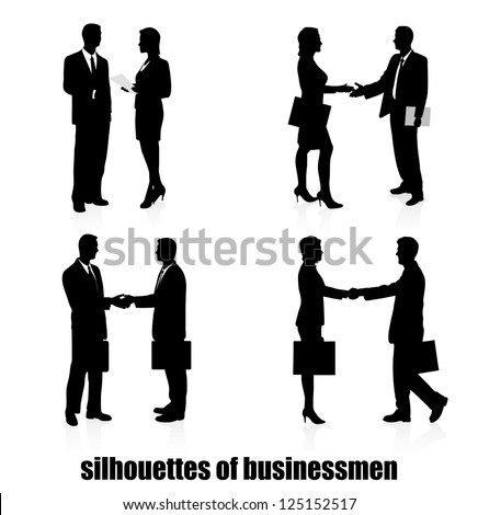 meeting of businessmen - stock vector