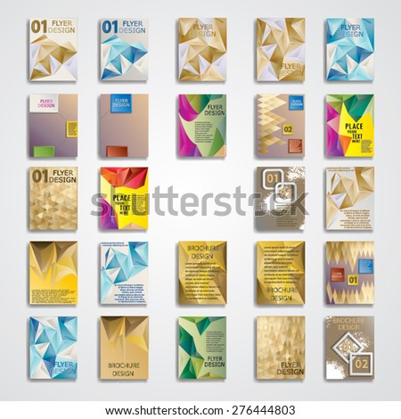Mega Collection of Modern Flyer Templates. Brochure Design Template. Vector Illustration. Modern Technology Brochure, Cover, Flyer, Report or Leaflet.  - stock vector