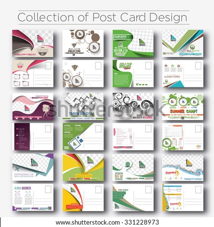Mega Collection of Postcard Design for Opening invitation Bundle.  - stock vector