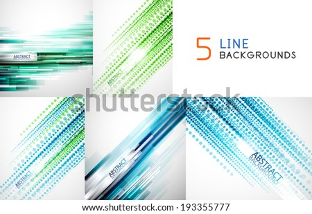 Mega collection of straight line abstract vector backgrounds with copy space. For business / tech design templates, web design, presentations - stock vector