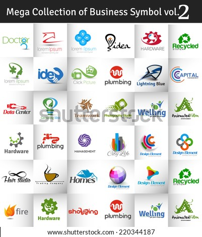 Mega Collection of Vector Logo Design vol.2 - stock vector