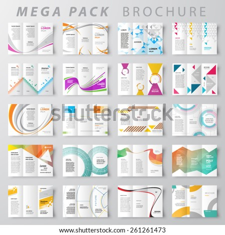 Mega pack Brochure design template set - stock vector