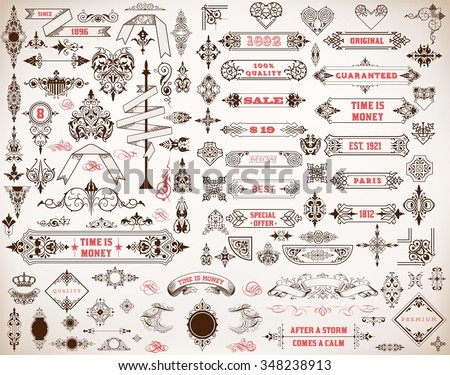 Mega set of design elements - stock vector