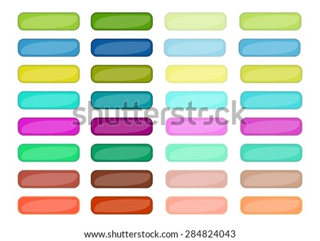 Mega set of web empty buttons in different colors, vector EPS10 - stock vector