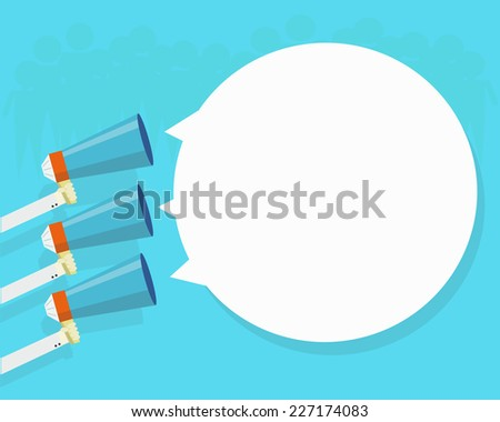 megaphone advertising - stock vector