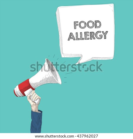 megaphone and hand - stock vector