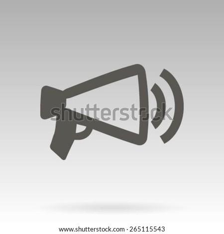 Megaphone, loudspeaker icon - stock vector