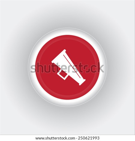 Megaphone, loudspeaker icon. Loud-hailer symbol - stock vector