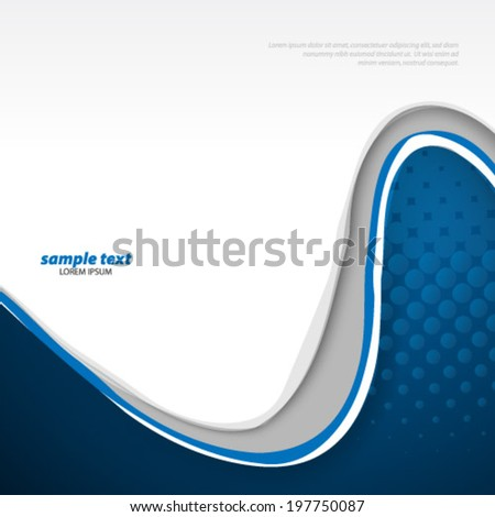 Melted Wave Lines Concept Background - stock vector