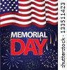 Memorial Day Flag Design. EPS 8 vector, grouped for easy editing. No open shapes or paths. - stock vector