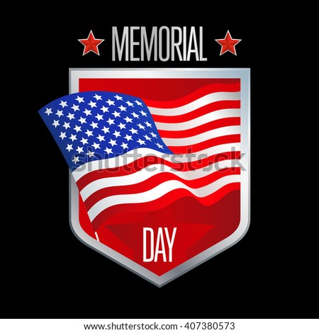 Memorial Day greeting card. Memorial Day illustration. Memorial Day vector. Memorial Day art. Memorial Day graphic. Memorial Day drawing. Memorial Day text. Memorial Day type. - stock vector
