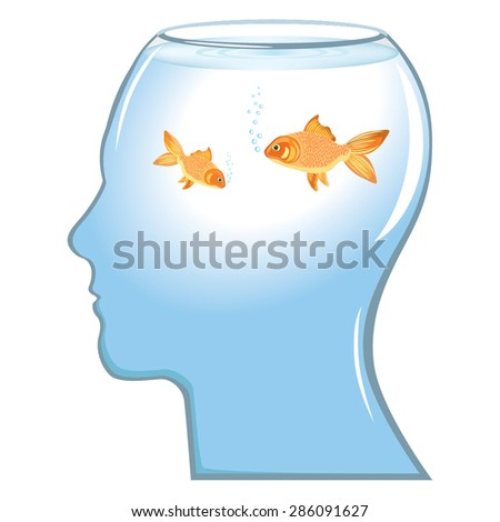 Memory loss concept vector - stock vector