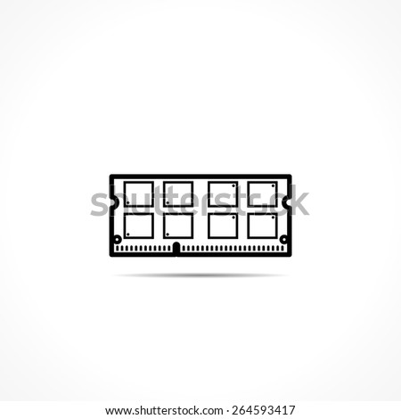 Memory module icon - stock vector