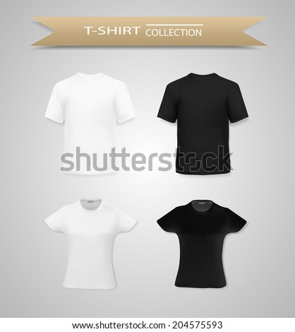 Men and women t shirts collection - stock vector