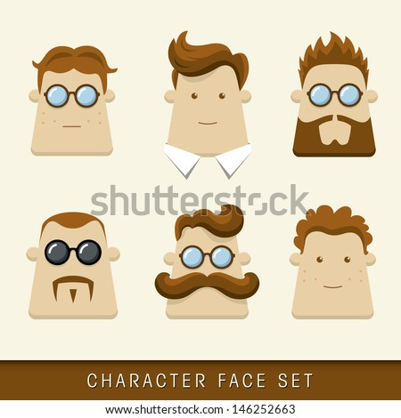 Men character icons. Vector illustration - stock vector
