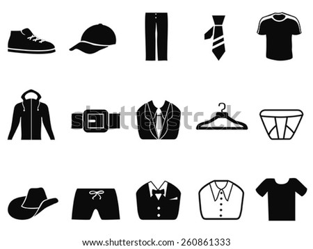 Men fashion icons set - stock vector