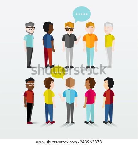 Men Gathering Vector Design - stock vector