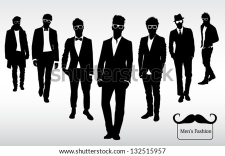 Men's fashion - stock vector