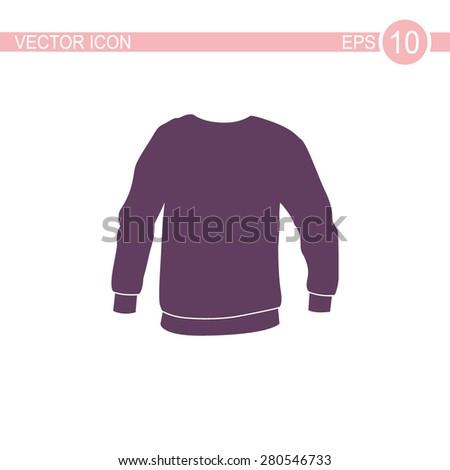 Men's sweatshirt vector icon. - stock vector