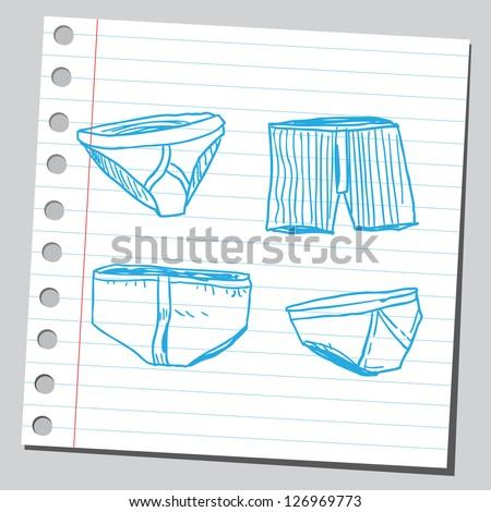 Men's underwear - stock vector