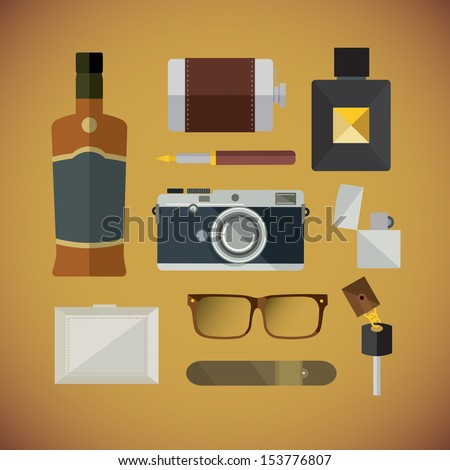 Men stuff - stock vector
