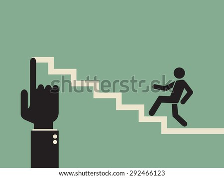 mentoring: building career path - stock vector