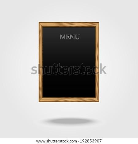 Menu Board, vector illustration - stock vector