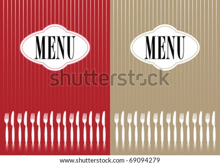 Menu Cards - stock vector