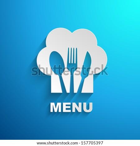 menu chef paper effect - stock vector