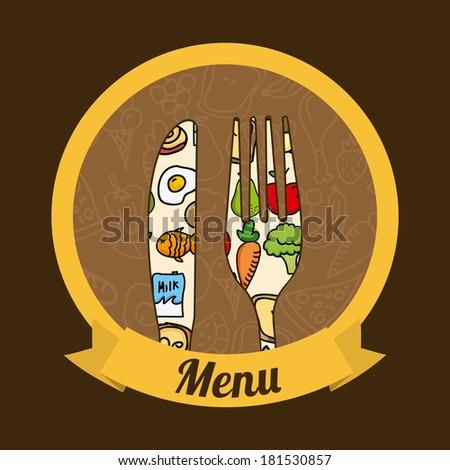 menu  design over  background vector illustration - stock vector
