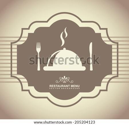 menu design over gray  background vector illustration - stock vector