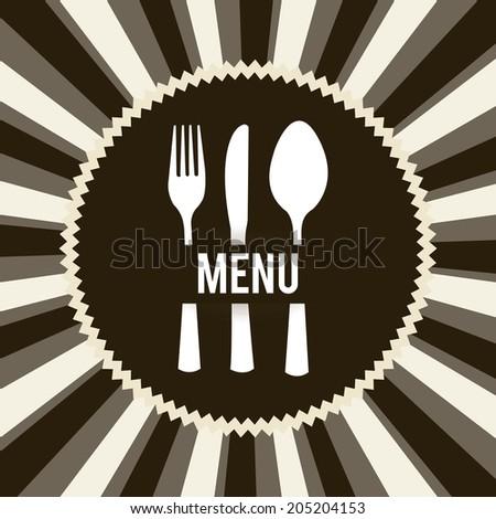 menu design over grunge background vector illustration - stock vector