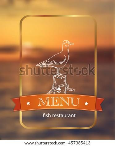 menu. fish restaurant - stock vector